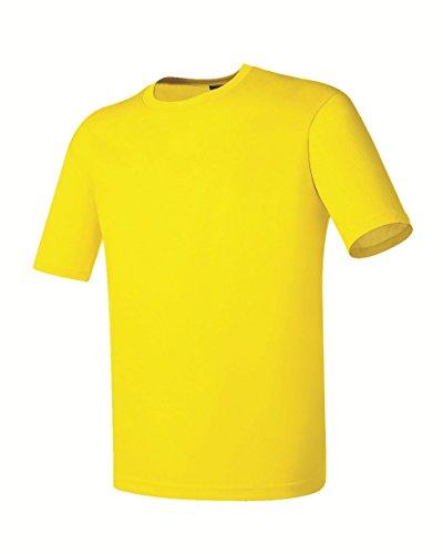 Myglory77mall Da Basic shirt Giallo Uomo T Girocollo rIxArO