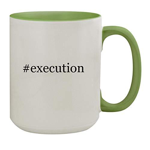 #execution - 15oz Hashtag Ceramic Inner & Handle Colored Coffee Mug, Light Green