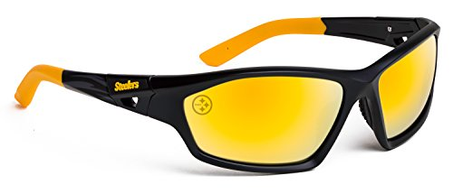 Officially Licensed NFL Sunglasses, Pittsburgh Steelers, 3D Logo on Temple - 100% UVA, UVB & UVC - Sunglasses Pittsburgh