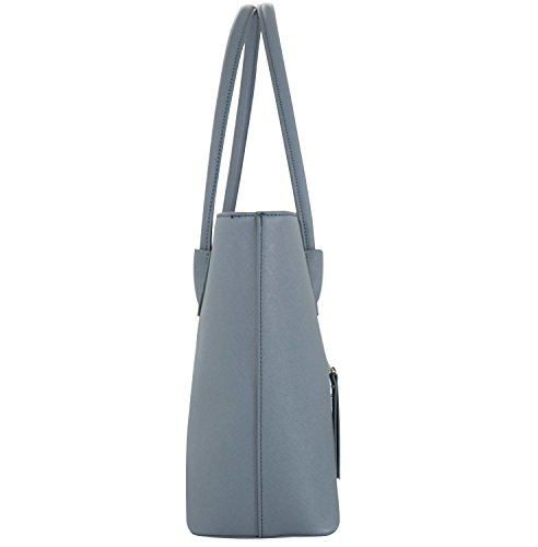 Shopper Leather Study Vanessa A4 Shopping Work Melissa Bag PU Handbag Women Blue amp; UTaqgF