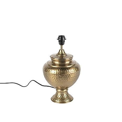 QAZQA Retro/Vintage Lámpara de mesa vintage oro sin patalla ...