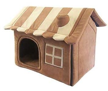 Ribecan Casita para perros y gatos lateral: Amazon.es: Productos para mascotas