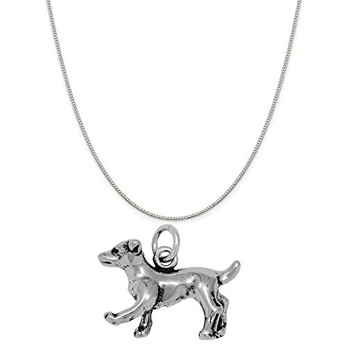Raposa Elegance Sterling Silver 3D Jack Russell Terrier Charm on a 18