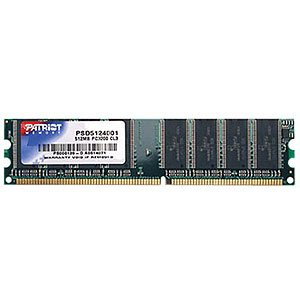 512mb Ddr Memory Pc - Patriot Signature DDR 512MB CL3 PC3200 (400MHz) DIMM