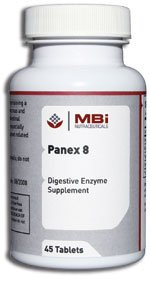Mbi Nutraceuticals Panex 8 Pancreatin 8X 90 Tablets