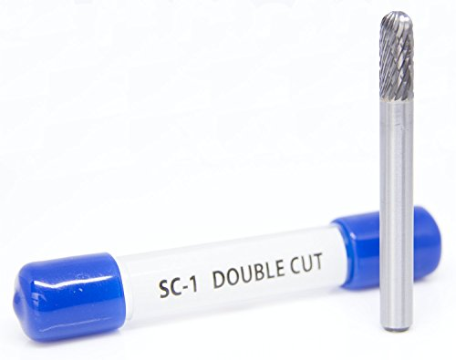 SC-1 Cylinder Shape Ball Nose - Premium Double Cut Tungsten Carbide Burr
