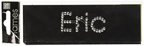 Me & My Big Ideas Rhinestone/Brad Name Stickers, Eric/Aluminum Brad