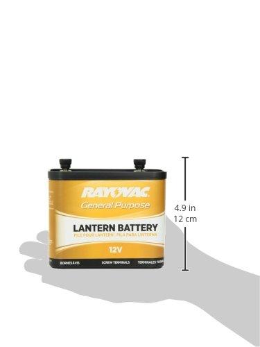 Rayovac 926 General Purpose Lantern Battery, 12 Volt, Screw Terminals