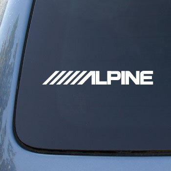 Alpine vinyl car decal sticker a1577 vinyl color white