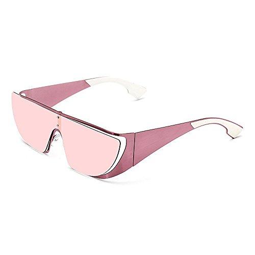 Gafas Gafas protección de sol de de mujeres hombres UV gato de de y sol de para gran Lady's Gafas Ultra Piece One sol Lens Style ligero gran hombre Rosado para tamaño colorido Ojos de de conducción 6nxU1Ta
