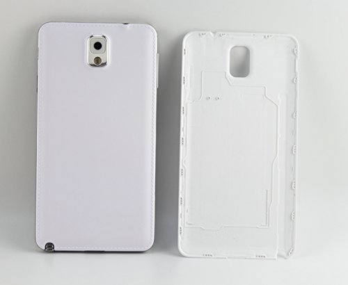 BB Mall Galaxy Note 3 Battery Cover, Plain Premium Hard Plastic Housing Replacement Back Cover for Samsung Galaxy Note 3 III N9000 N9005 - The Mall Plains White