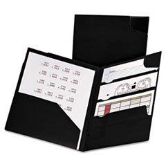 Divide It Up Four-Pocket Poly Folder, 11 X 8-1/2, Black By: