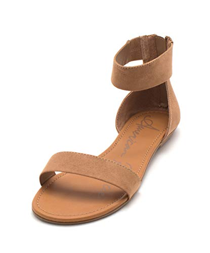 American Rag Womens Keley 2 Open Toe Casual Ankle Strap, Tan Pu, Size 8.5 from American Rag