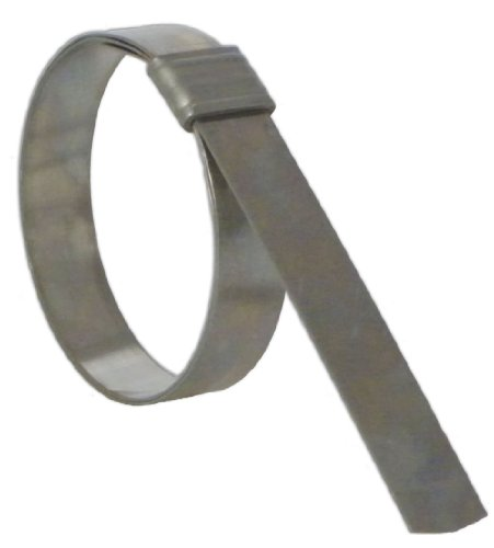 BAND-IT JS4139 Junior 3/4'' Wide x 0.030'' Thick, 4'' Diameter, 316 Stainless Steel Smooth I.D. Clamp (25 Per Box) by Band-It
