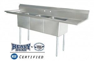 commercial 3 bay sink - 5