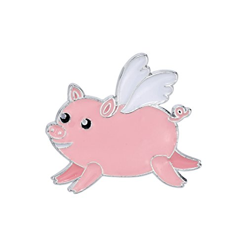 Pin Pushers Flying Pig Enamel Lapel Pin ()