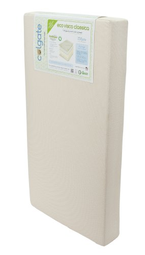 Colgate Eco Visco Classica - Organic Cotton Crib Mattress and Memory Foam Toddler Side with Waterproof Cover,Ecru