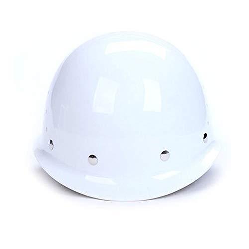Yan Xiao Yu Safety Helmet Site FRP Construction Leading Labor Insurance Flood Control Ventilation Construction High Altitude Helmet (Color : White, Size : One size)