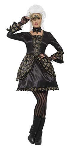 (Smiffys Women's Deluxe Masquerade Costume, Black/Gold,)
