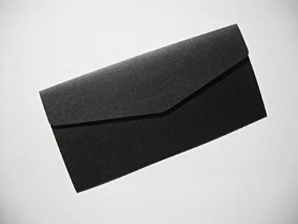 Amazon.com: Onyx/Negro (en blanco perlado pocketfold boda ...