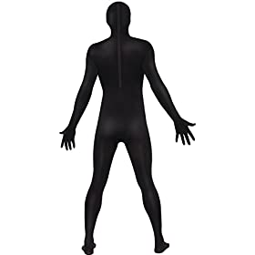 - 317FE0A2IhL - Smiffy's Men's Second Skin Suit with Bumbag Concealed Fly and Under Chin Opening