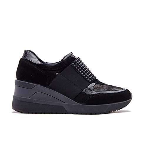 amp;co Nero 2150700 Scarpe Igi Sneakers Zeppa Strass Donna aqdcOx