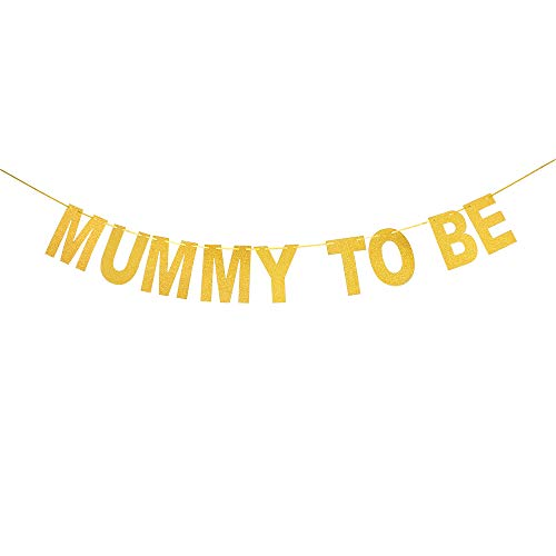 Mummy To Be Banner - New Mom Mum Bunting - Baby Shower Party Decorations - Pregnant Mom Sign ()