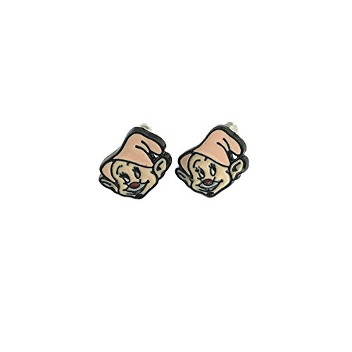 Snow White Dopey The Dwarf Post Earrings w/Gift Box By (Storm X Men Costume White)