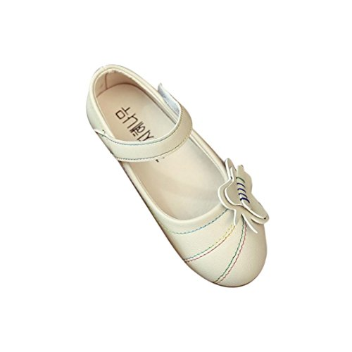 Elevin(TM)2017 Summer Children Girls Fashion Flower Princess Solid Hollow Single Flat Dance Shoes (7T, - Fashion 5dollar