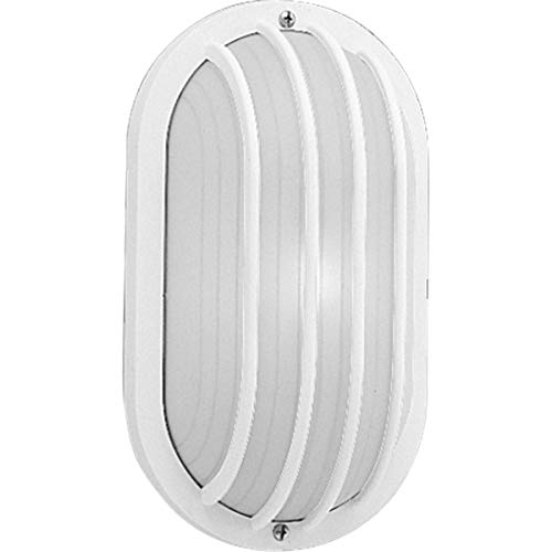 Progress Lighting P5705-30 Polycarbonate Light Mounted On Walls Only Indoors or Outdoors with No Color Fade, White ()