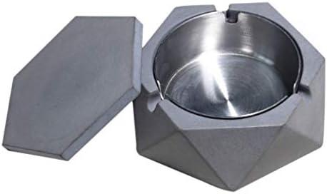 Wakauto ふた付き車の灰皿車のカップホルダーホームオフィス用灰皿灰皿灰皿(ダークグレー)