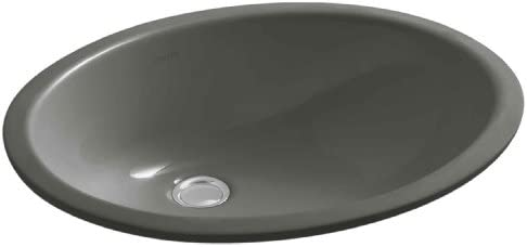 KOHLER K-2210-58 Caxton Undercounter Bathroom Sink, Thunder Grey