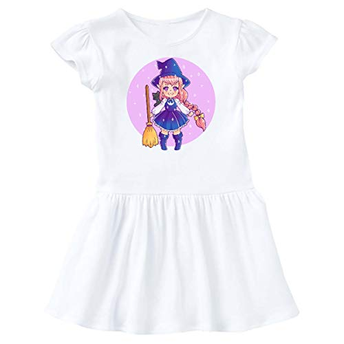 inktastic - Halloween Cute Chibi Anime Witch Infant Dress 24 Months White 369f0 ()