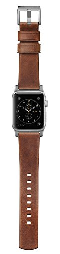 Nomad Horween Leather Strap (Modern) Apple Watch 42mm Silver