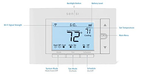 Emerson Sensi Wi-Fi Thermostat for Smart Home, 1F87U-42WF, Pro Version, Works with Alexa by Emerson Thermostats (Image #7)