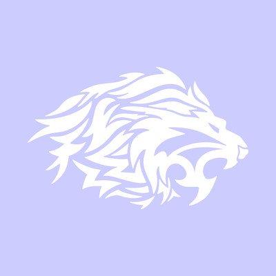 Leone tribale testa lion sticker decal adesivo prespaziato senza fondo in vinile colore nero lucido, 10 centimetri. Personalizza auto, moto, caschi, camion, furgoni, fuoristrada e 4x4, car wrapping e tuning, barche, valige, vetri, mobili e qualsiasi altra