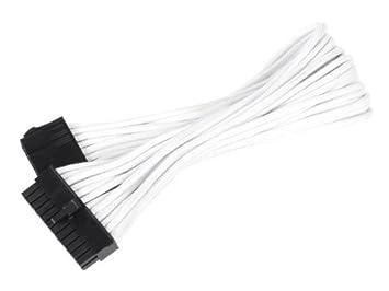 SilverStone SST-PP07-MBBG - cavo di estensione sleevato Motherboard 24pin a 24pin, 30cm, nero/oro 40128