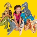 Jumbo Inflatable Dinosaurs ( 6 count) by Fun Express