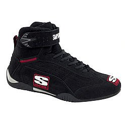 SIMPSON SAFETY Size 10 Black High-Top Adrenaline Driving Shoes P/N AD100BK