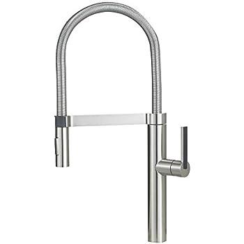 Blanco 441332 Culina Semi-Pro Kitchen Faucet, Satin Nickel