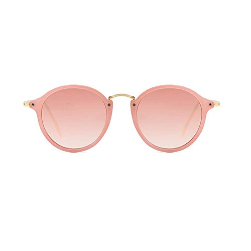Initial Unisex Cute Round Frame Metal Retro Transparent - Sunglasses Transparent Metal