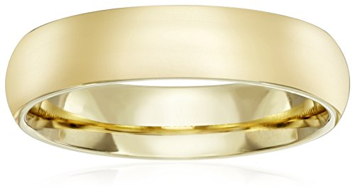 Standard Comfort-Fit 14K Yellow Gold Band, 5mm, Size 10