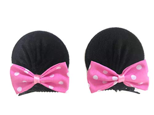 MeeTHan Minnie Mouse Clips Ears Baby Elastic Hair Clips Costume Accessory :M12 (Minnie clip 7 -