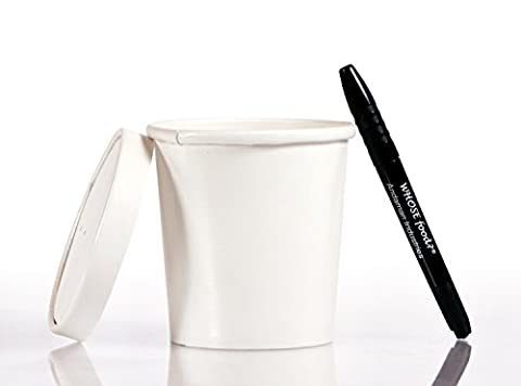 Solo 12oz Take Out Cup & Lid (25ct) – Durable for Soup, Ice Cream, Frozen Yogurt, and To-Go Lunches - Bundled with WhoseFood?® Pen - Hot / Cold Paper Food Container for Storage and - Dart Vented Lid