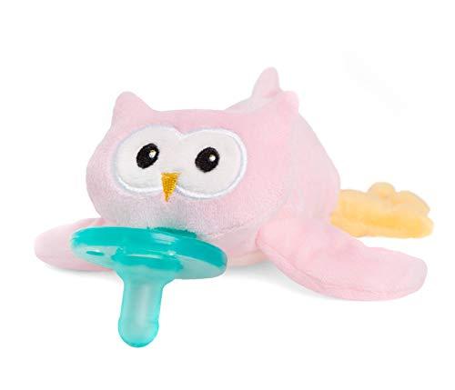 - WubbaNub Infant Pacifier - Pink Owl