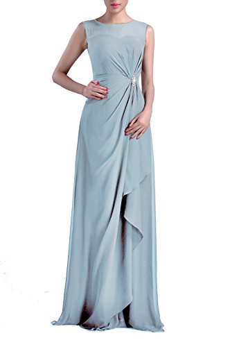 Adorona Formal Bridesmaid Dress Chiffon Special Occasion Long Mother Of The Bride Groom Dress  Color Baby Blue 18W