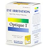 Boiron Optique 1 Eye Drops, Single-Use Doses for Eye Irritation - 20 Ea
