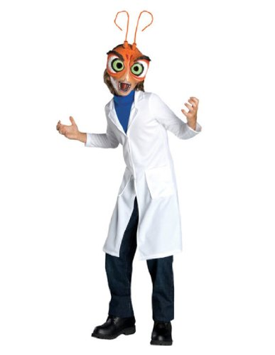 Dreamworks Monsters Vs. Aliens Child's Deluxe Dr. Cockroach Costume, Child (Cockroach Costume)