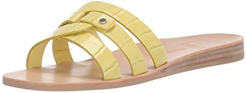 Dolce Vita Women's CAIT Slide Sandal, Citron Crocodile Embossed Stella, 8.5 M US ()