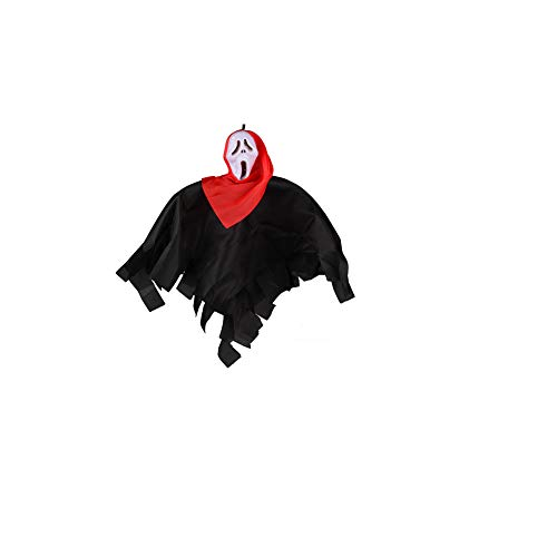 Halloween Little Ghost Props Haunted House Layout Supplies Tricky Skull Toy Ghost Ornaments]()